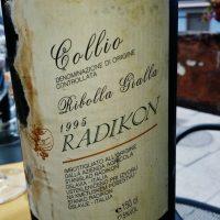 Radikon ribolla gialla 1995: un'emozione senza fine!